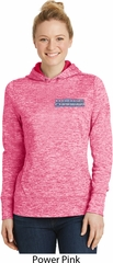 Blue Dodge Charger Pocket Print Ladies Moisture Wicking Hoodie