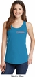 Blue Dodge Charger Pocket Print Ladies Tank Top
