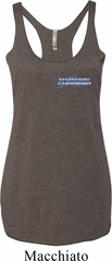 Blue Dodge Charger Pocket Print Ladies Tri Blend Racerback Tank Top