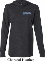 Blue Dodge Charger Pocket Print Lightweight Hoodie Tee