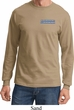 Blue Dodge Charger Pocket Print Long Sleeve Shirt