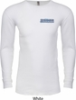 Blue Dodge Charger Pocket Print Long Sleeve Thermal Shirt