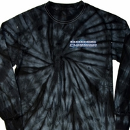 Blue Dodge Charger Pocket Print Long Sleeve Tie Dye Shirt