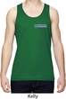 Blue Dodge Charger Pocket Print Mens Moisture Wicking Tanktop