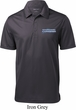 Blue Dodge Charger Pocket Print Mens Textured Polo Shirt