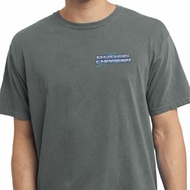 Blue Dodge Charger Pocket Print Pigment Dyed Shirt