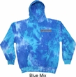 Blue Dodge Charger Pocket Print Tie Dye Hoody
