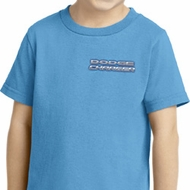 Blue Dodge Charger Pocket Print Toddler Shirt