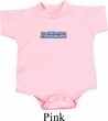 Blue Dodge Charger Small Print Baby Onesie