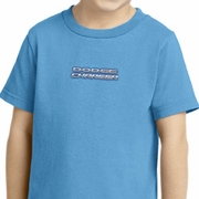 Blue Dodge Charger Small Print Kids Shirts