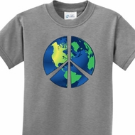 Blue Earth Peace Kids Shirts
