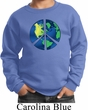 Blue Earth Peace Kids Sweat Shirt