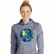 Blue Earth Peace Ladies Moisture Wicking Hoodie