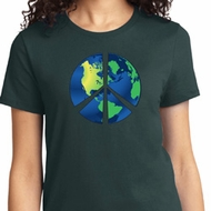 Blue Earth Peace Ladies Shirt