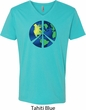 Blue Earth Peace Mens V-Neck Shirt