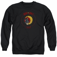 Bon Jovi Sweatshirt 1987 Adult Black Sweat Shirt