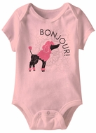 Bonjour Funny Baby Romper Pink Infant Babies Creeper