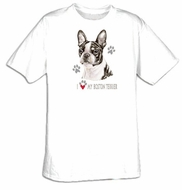 Boston Terrier T-shirt - I Love My Boston Terrier Dog Tee