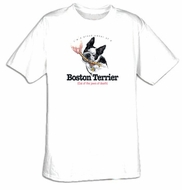 Boston Terrier T-shirt - I'm a Proud Owner of a Boston Terrier Tee