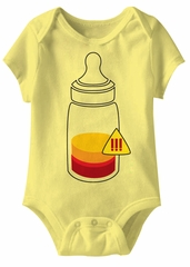 Bottle Recharge Me Funny Baby Romper Yellow Infant Babies Creeper