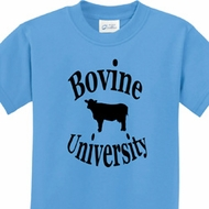 Bovine University Kids Funny Shirts