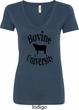 Bovine University Ladies V-Neck Shirt