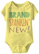 Brand Spankin New Funny Baby Romper Yellow Infant Babies Creeper