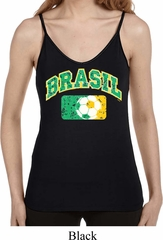 Brasil Ladies Built in Bra Tank Top