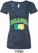 Brasil Ladies Burnout V-neck Shirt