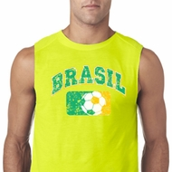 Brasil Mens Sleeveless Shirt