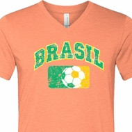 Brasil Mens Tri Blend V-neck Shirt