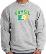 Brazil Soccer Sweatshirt Futbol Sweatshirt Athletic Heather