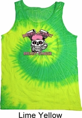 Breast Cancer Awareness Bikers Against Breast Cancer Tie Dye Tank Top