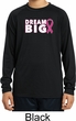 Breast Cancer Awareness Dream Big Kids Dry Wicking Long Sleeve Shirt
