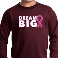 Breast Cancer Awareness Dream Big Kids Long Sleeve Shirt