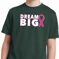 Breast Cancer Awareness Dream Big Kids Moisture Wicking Shirt
