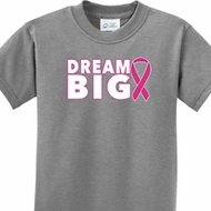 Breast Cancer Awareness Dream Big Kids Shirt