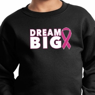 Breast Cancer Awareness Dream Big Kids Sweat Shirt