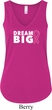 Breast Cancer Awareness Dream Big Ladies Flowy V-neck Tanktop