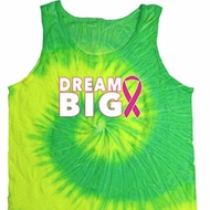 Breast Cancer Awareness Dream Big Tie Dye Tank Top