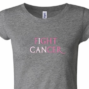 Breast Cancer Awareness Fight Cancer Ladies Shirts