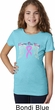 Breast Cancer Awareness Heaven Can Wait Girls Shirt