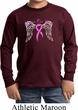 Breast Cancer Awareness Heaven Can Wait Kids Long Sleeve Shirt