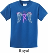 Breast Cancer Awareness Heaven Can Wait Kids Shirt