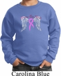 Breast Cancer Awareness Heaven Can Wait Kids Sweat Shirt