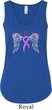Breast Cancer Awareness Heaven Can Wait Ladies Flowy V-neck Tanktop