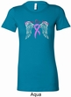 Breast Cancer Awareness Heaven Can Wait Ladies Longer Length Shirt