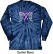 Breast Cancer Awareness Heaven Can Wait Long Sleeve Tie Dye Shirt