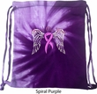 Breast Cancer Awareness Heaven Can Wait Tie Dye Bag