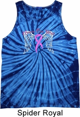 Breast Cancer Awareness Heaven Can Wait Tie Dye Tank Top